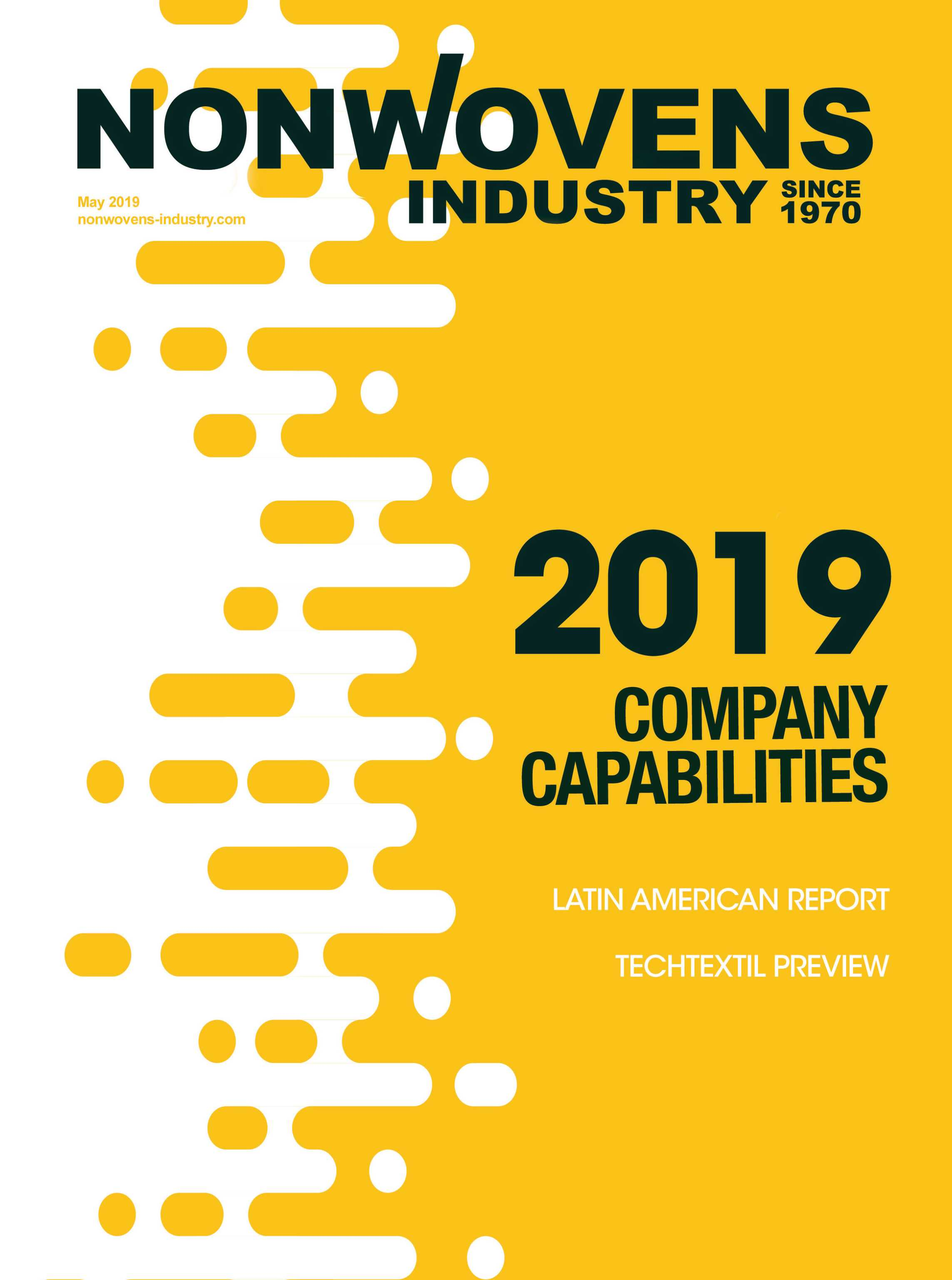 Nonwovens Industry - May 2019 - page Cover